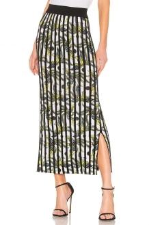 KENZO Printed Vertical Rib Skirt