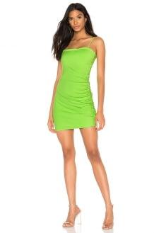 Susana Monaco Thin Strap Side Gather Dress