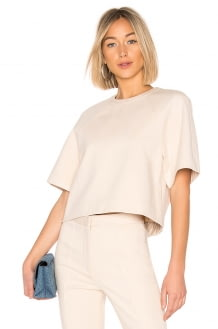 Tibi Raglan Short Sleeve Top